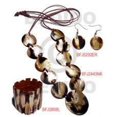 Brown Lip Tiger Tiger Set Jewelry Long necklace Bangles Earrings Set Jewelry BFJ013SJ