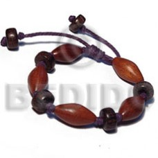 Brown Patikan Wood 20 mm adjustable Wood Bracelets BFJ5442BR