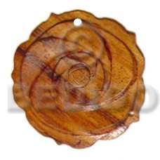 Brown Rosewood Flower 35 mm Pendants - Wooden Pendants BFJ5209P