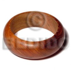 Brown Solid 65 mm Inner Diameter / Outer 105 mm Bayong Wood Bangles - Wooden Bangles BFJ076BL