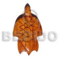 Brown Turtle Bayong Wood Waxed Pendants - Wooden Pendants BFJ5066P