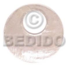 Capiz Shell 40 mm Round White Pendants - Simple Cuts BFJ6225P