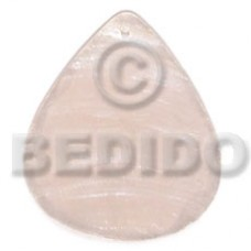 Capiz Shell 40 mm Teardrop White Pendants - Simple Cuts BFJ6253P