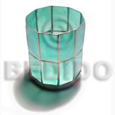Capiz Shell Aqua Blue GIFT AND DECORS BFJ050GD