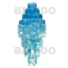 Capiz Shell Monogram Blue 43 inch Capiz Shell Chandeliers BFJ016CC