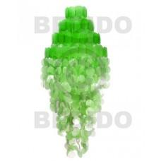 Capiz Shell Monogram Mint Green 43 inch Capiz Shell Chandeliers BFJ015CC