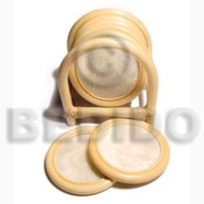Capiz Shell Natural 3 inch Rattan Round GIFT AND DECORS BFJ046GD