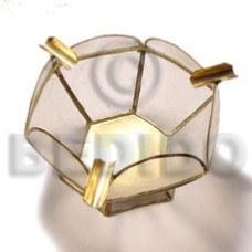 Capiz Shell Natural Brass GIFT AND DECORS BFJ030GD