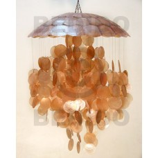 Capiz Shell Parisian Golden Brown 22 inch Capiz Shell Chandeliers BFJ002CC