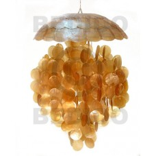 Capiz Shell Parisian Golden Yellow 22 inch Capiz Shell Chandeliers BFJ003CC