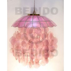 Capiz Shell Parisian Old Rose 22 inch Capiz Shell Chandeliers BFJ004CC