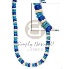 Coconut 4-5 mm Blue Coconut Necklace BFJ009NK