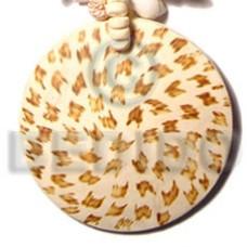 Coconut 50 mm Round Brown Pendants - Coco Pendants BFJ5414P