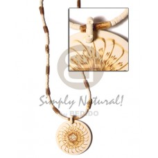 Coconut Beads Flower 50 mm 2-3 mm Coconut Necklace BFJ358NK