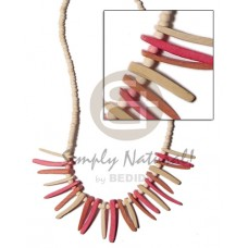 Coconut Beads Stick 2-3 mm Coconut Necklace BFJ341NK