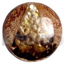 Coconut Black Lip Shell Round 65 mm Pendants - Coco Pendants BFJ5722P