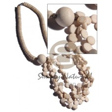 Coconut Graduated Side Drill Bleached White 7-8 mm Coconut Necklace BFJ2380NK