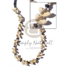 Coconut Half Moon Glass Beads Coconut Necklace BFJ261NK