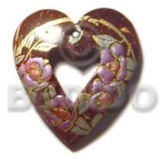 Coconut Heart 50 mm Pendants - Coco Pendants BFJ5379P