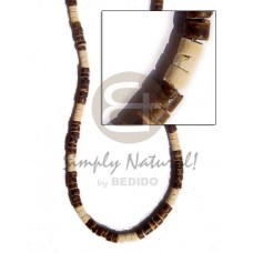 Coconut Heishi Coconut Beads 4-5 mm Natural Brown Coconut Necklace BFJ150NK