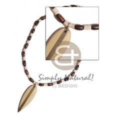Coconut Heishi Coconut Necklace BFJ787NK
