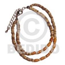 Coconut Heishi Wood Beads 2-3 mm Wood Bracelets BFJ968BR