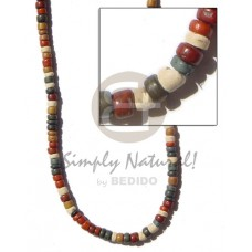 Coconut Pokalet 4-5 mm Earth Tones Coconut Necklace BFJ110NK