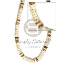 Coconut Pokalet 7-8 mm Tiger Bleached White Coconut Necklace BFJ013NK