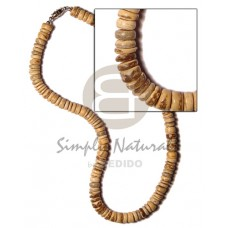 Coconut Pokalet 7-8 mm Tiger Coconut Necklace BFJ520NK