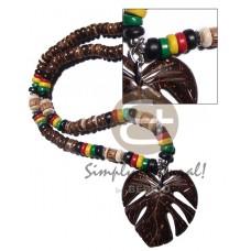 Coconut Pokalet Natural Rasta Leaf Unisex Reggae Rastafarian Accessory BFJ3486NK