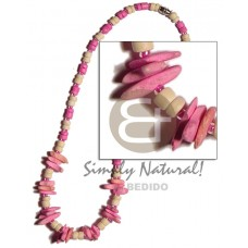 Coconut Pokalet Pink Chips 4-5 mm Coconut Necklace BFJ928NK
