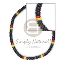 Coconut Pokalet Rasta 4-5 mm Dyed Black Yellow Red Green Unisex Reggae Rastafarian Accessory BFJ085N