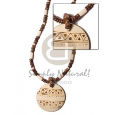 Coconut Pokalet Wood 50 mm Coconut Necklace BFJ371NK