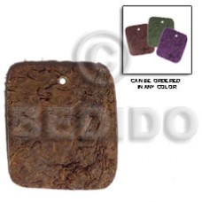 Coconut Rectangular Brown Pendants - Coco Pendants BFJ5059P