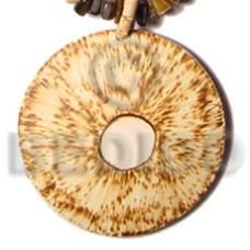 Coconut Round 50 mm Brown Pendants - Coco Pendants BFJ5416P