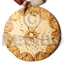 Coconut Round Brown 50 mm Pendants - Coco Pendants BFJ5413P