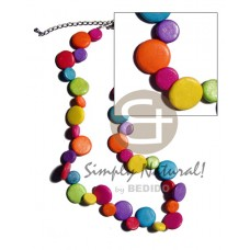 Coconut Side Drill Multi-Color Coconut Necklace BFJ1898NK