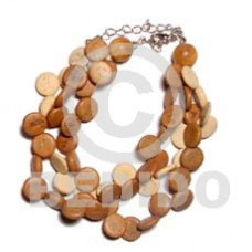 Coconut Side Drill Tan Coconut Bracelets BFJ679BR
