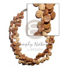 Coconut Side Drill Tan Coconut Necklace BFJ679NK