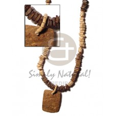 Coconut Square Coconut Necklace BFJ356NK