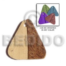 Coconut Triangle Brown Pendants - Coco Pendants BFJ5068P