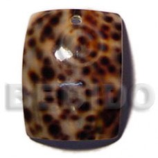 Cowrie Tiger Shell Rectangular 40 mm Tiger Pendants - Shell Pendants BFJ5070P