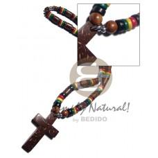 Cross 7-8 mm Coconut Pokalet Rasta Sig-id Wood Unisex Reggae Rastafarian Accessory BFJ3483NK