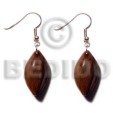 Dangling Bayong Wood 35 mm Diamond Wood Earrings BFJ5344ER