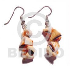 Dangling Luhuanus Green Everlasting Natural Shell Earrings BFJ673ER