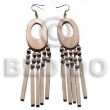 Dangling Oval Ambabawd Wood 22 mm Wood Earrings BFJ5525ER