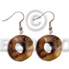 Dangling Robles Wood Ring 35 mm Wood Earrings BFJ5372ER