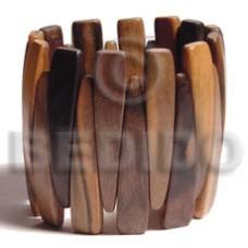 Elastic Ebony Tiger Ebony Tiger Kamagong Wood Bangles - Wooden Bangles BFJ035BL