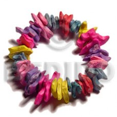 Elastic Multi-Color Chips Coconut Bracelets BFJ5071BR