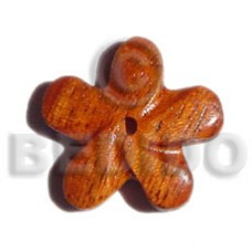 Flower Bayong Wood 35 mm Pendants - Wooden Pendants BFJ5065P